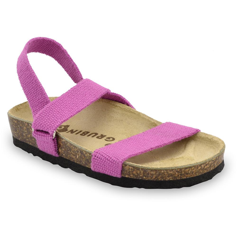 RAMONA Kids sandals - cloth (23-29) - pink, 29