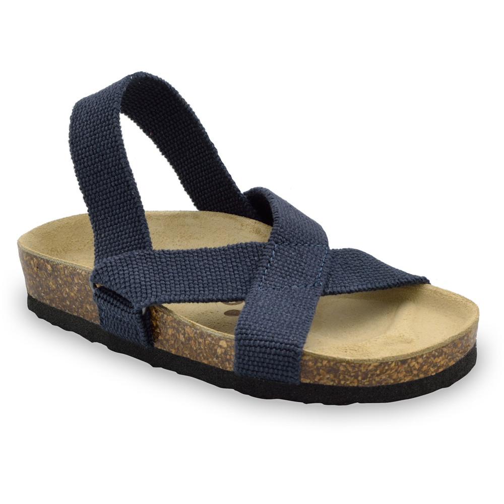 LUI Kids sandals - cloth (23-29) - blue matte, 27