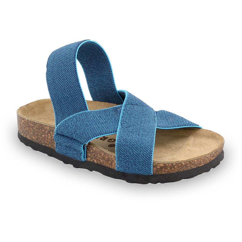 LUI Kids sandals - cloth (23-29) - blue, 28