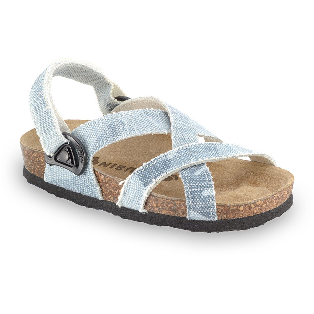 PITAGORA Kids sandals - cloth (23-29) - blue grey, 26