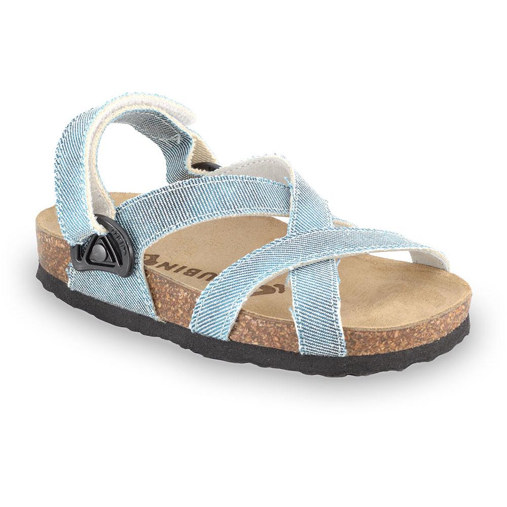 PITAGORA Kids sandals - cloth (30-35) - blue, 33