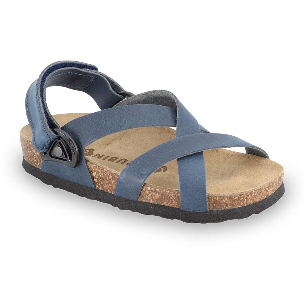 PITAGORA Kids sandals - nubuck caste leather (30-35) - blue, 30