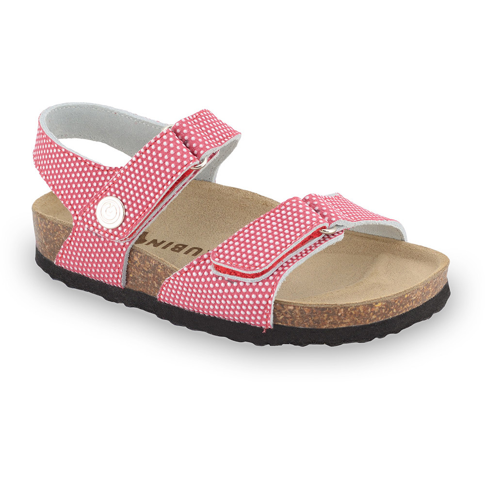 RAFAELO Kids sandals - caste leather (23-29) - red, 26