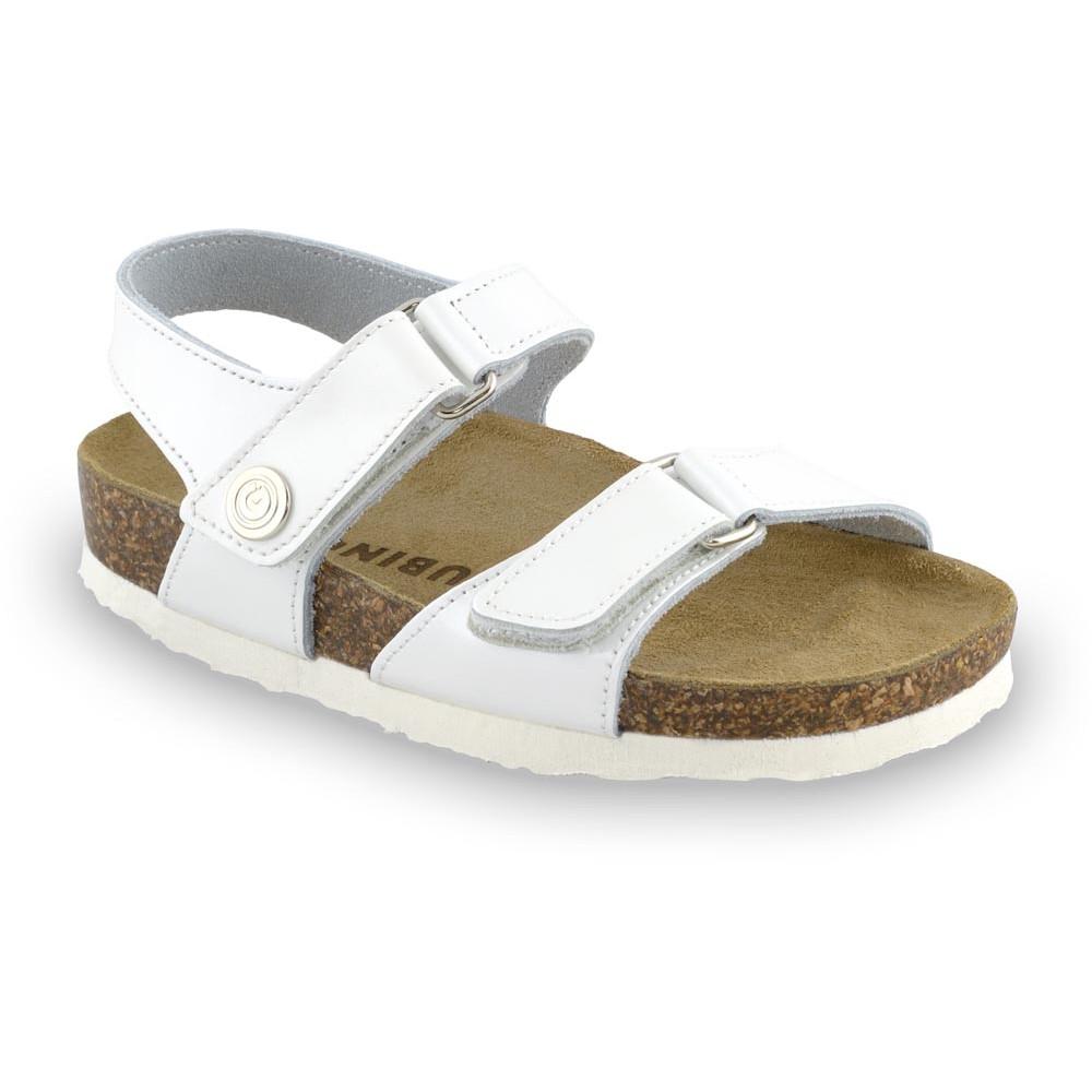RAFAELO Kids sandals - leather (30-35) - white, 32