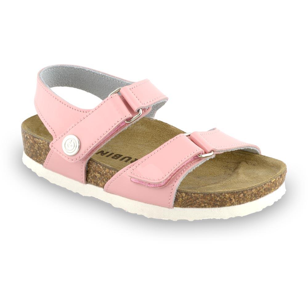 RAFAELO Kids sandals - leather (30-35) - light pink, 30