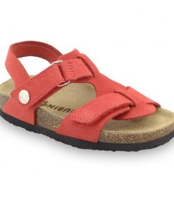ROTONDA Kids - velor leather sandals (23-29)