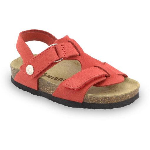 ROTONDA Kids - velor leather sandals (30-35)