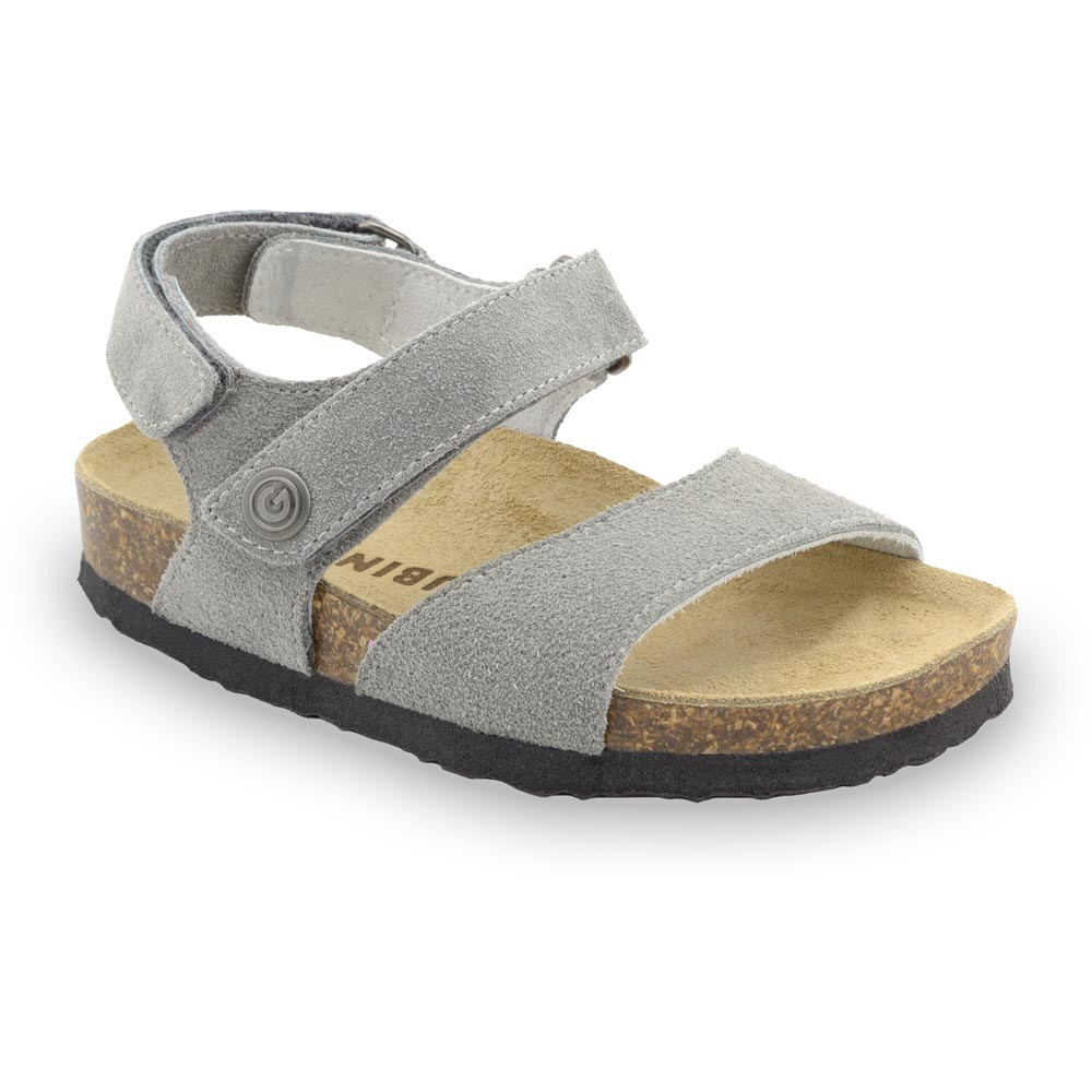 EJPRIL Kids sandals - nubuk leather (23-29) - dark grey, 27