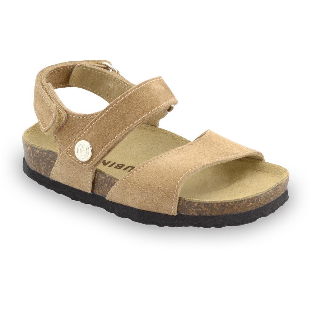 EJPRIL Kids sandals - nubuk leather (23-29) - cream, 27