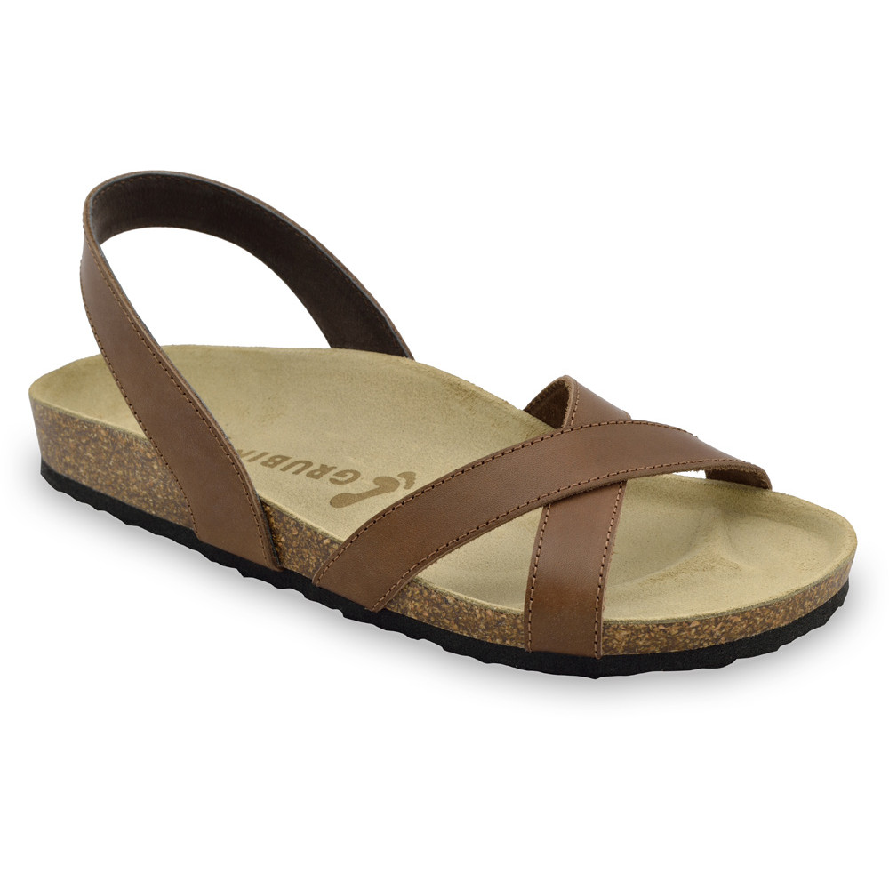 CHUCK Men's sandals - leather (40-49) - brown, 47