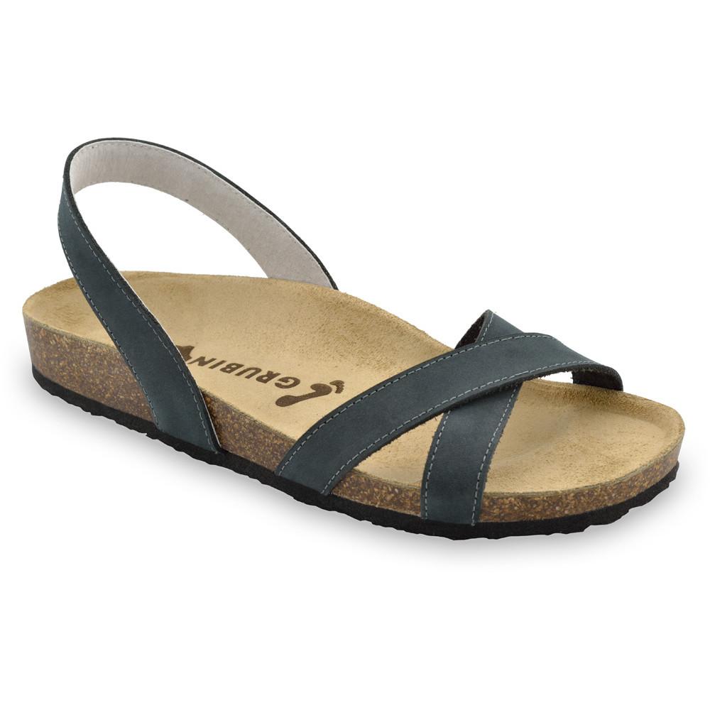 CHUCK Men's sandals - leather (40-49) - dark grey, 46