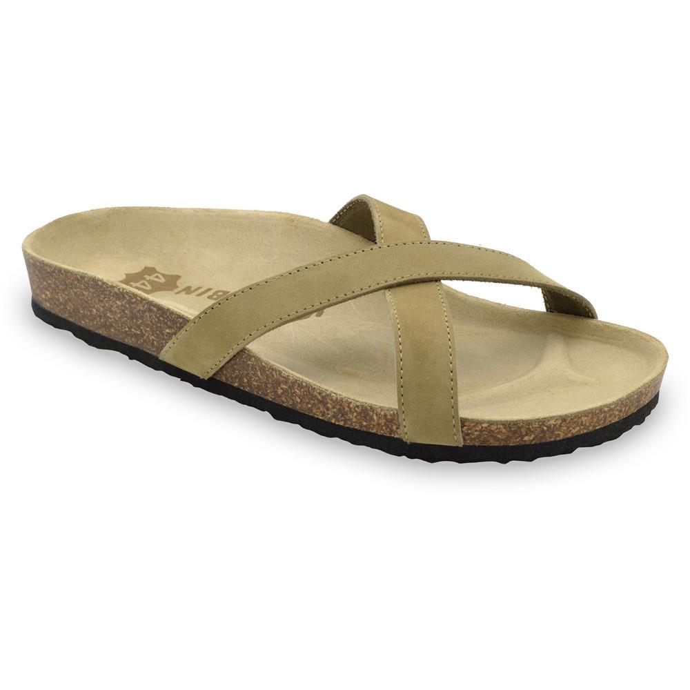 NORRIS Men's slippers - leather (40-49) - cream, 47