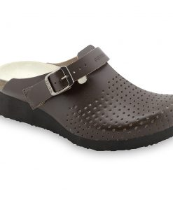 DUBAI Silverplus closed slippers - leather (36-42)