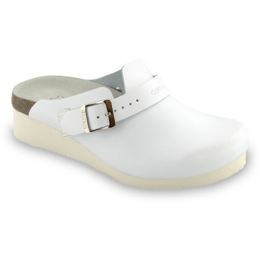 MELBOURNE Silverplus closed slippers - leather (36-42)