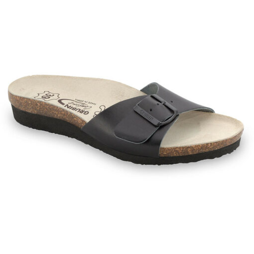 TOPEKA Silverplus slippers - leather (36-42)